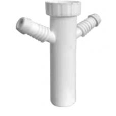 """Nastavak sifona 6/4"""" x ø40 mm sa priključkom za dvije perilice"""