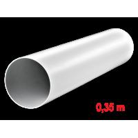 Cijev ventilacijska ø100 mm x 0,35 m - okrugla