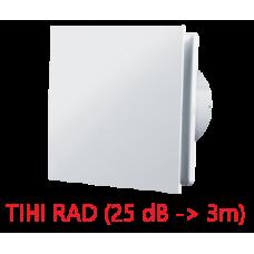 Ventilator ø 100 mm - dekorativni dizajn - bijeli
