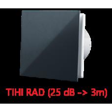 Ventilator ø 100 mm - dekorativni dizajn - crni